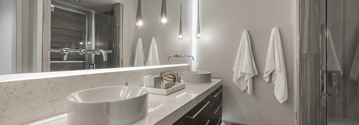 Glass mirror and shower in Park City